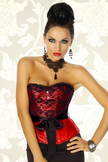 Red Gothic Corsage