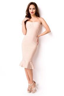 Sexy white sleeveless Black Bandage-Shape-Kleid