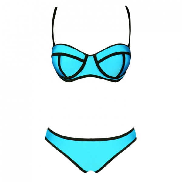 Stretch Bikini Sets With Padded Cup