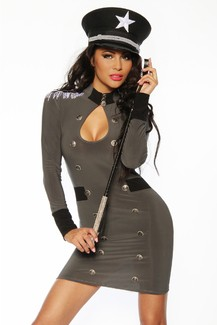 Sexy Military Costume mini dress