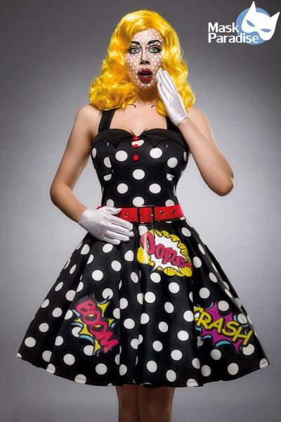 Pop Art Girl Kostümset, 3tlg.