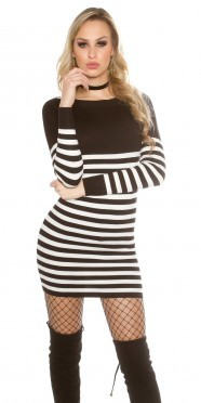 Sexy KouCla sweater/dress striped with buttons