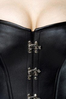 Sexy faux leather Corset