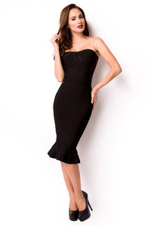Sexy sleeveless Black Bandage-Shape-Kleid
