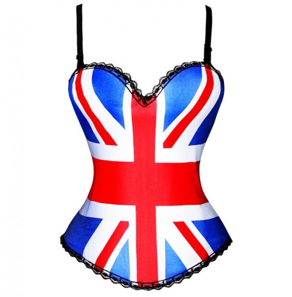 British flag Print Corset