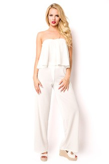 White trendy Top and Pant