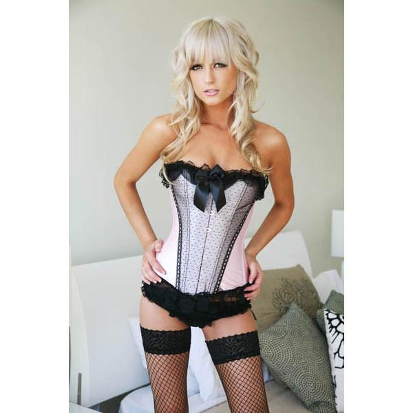 lace up corset bustier