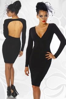 Black Sexy Rücken Frei Dress