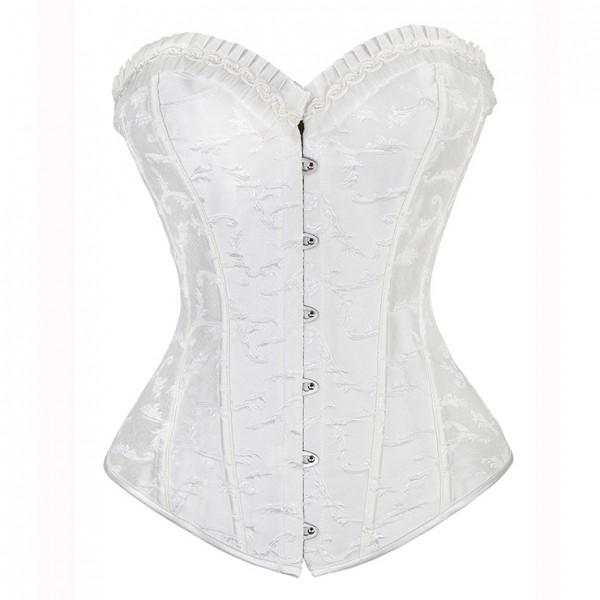 Elegant Embroidered white Shape Corset