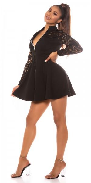 Sexy tailliertes Kleid mit Spitze
