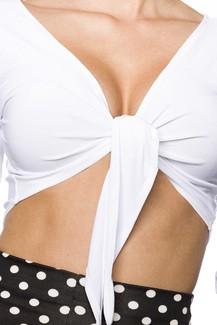 Sexy white bolero
