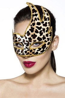 Leopard Carnaval mask for coulored evenings