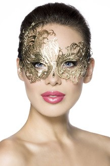Metal Carnaval mask for coulored evenings
