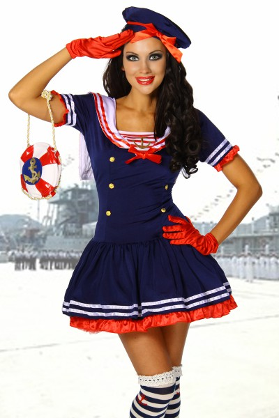 Marine - Kostüm mit Hut