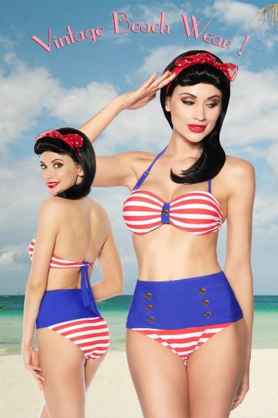 Vintage Bandeau-Bikini