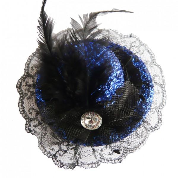 Blue Glitter Mini Top Hat