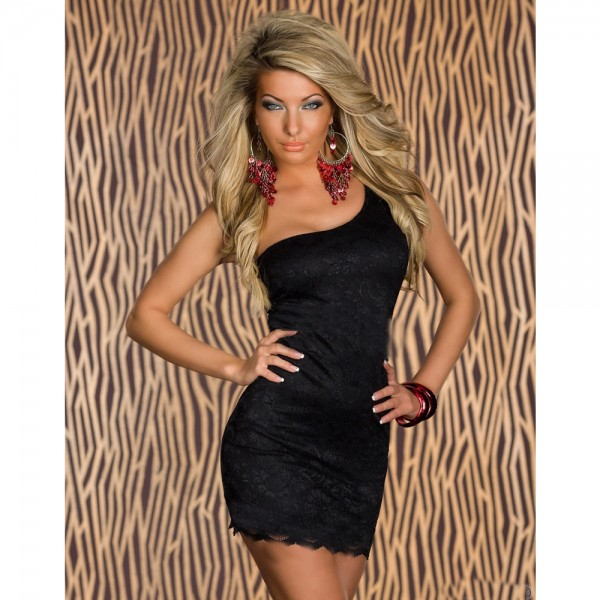 Lace one shoulder dress